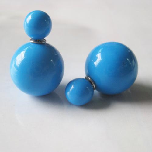 Серьги Пусеты Синие