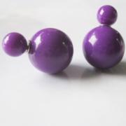 Серьги Пусеты Фиолетовый