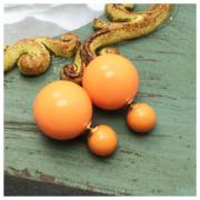 Серьги Пусеты Оранжевые