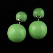 Серьги Пусеты Зеленые