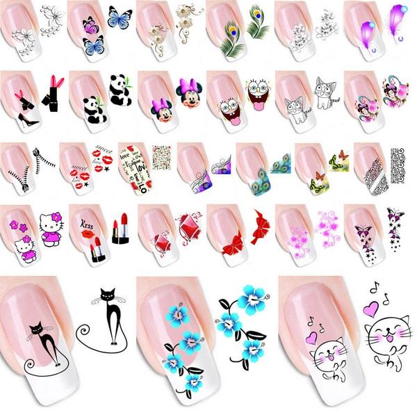 Как самому сделать наклейки на ногти