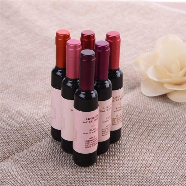 Матовая помада бутылочка вина