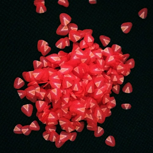 Фимо фигурки 3d фрукты для ногтей Клубника