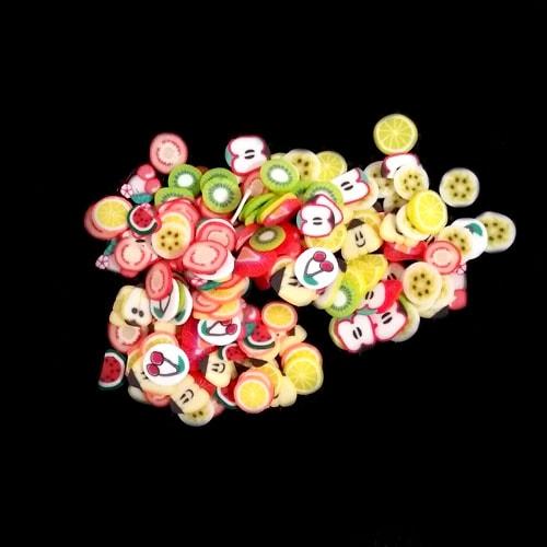 Фимо фигурки 3d фрукты для ногтей Микс