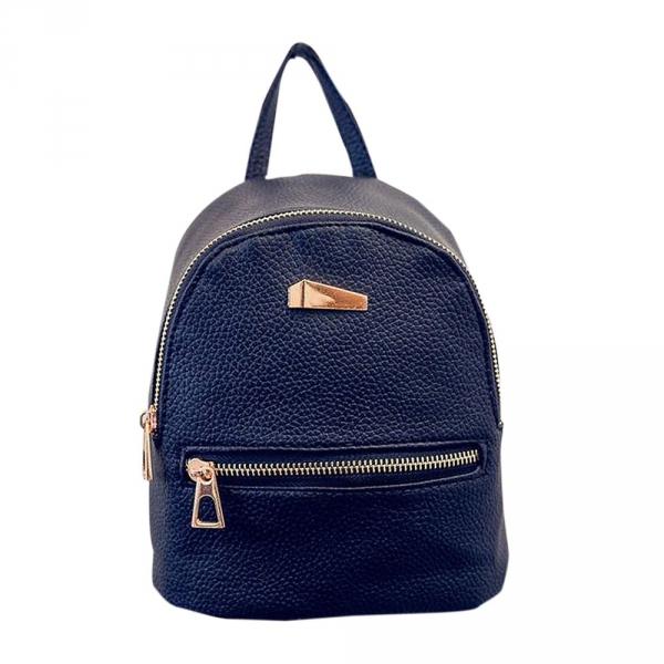 Стильный женский рюкзак мини Чёрный