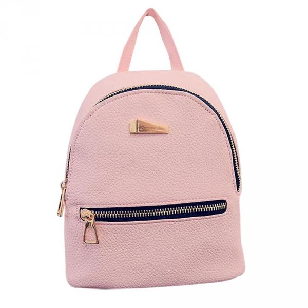 Стильный женский рюкзак мини Розовый
