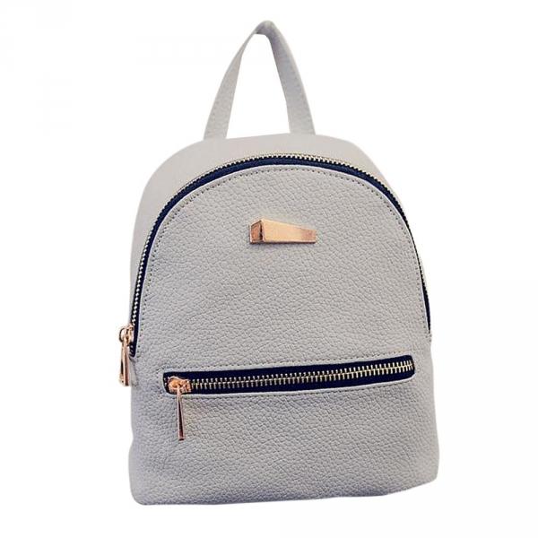 Стильный женский рюкзак мини Серый