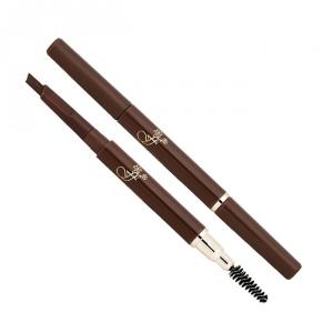 Автоматический карандаш для бровей 2 в 1 от фирмы FFLEUR, с пудровой текстурой и щеточкой