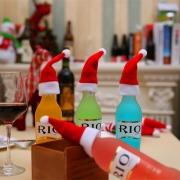 Шапочка Деда Мороза,  декор столовых приборов, украшение новогоднего стола