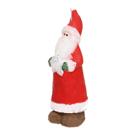 Новогодняя свеча Дед Мороз, подарки для нового года