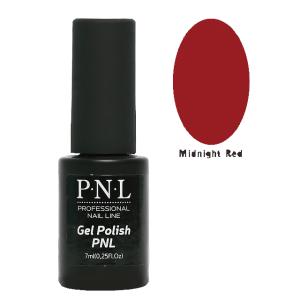 Трехфазный гель-лак для ногтей Midnight Red, P.N.L Gel Polish, глянцевый