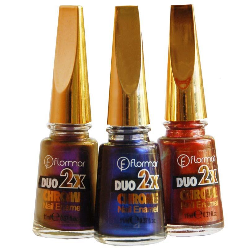 Avon Chrome Nail Powder: Лак для ногтей DUO 2x хром, купить FLORMAR с металл