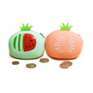 Детский силиконовый кошелек в виде фруктов на замочке