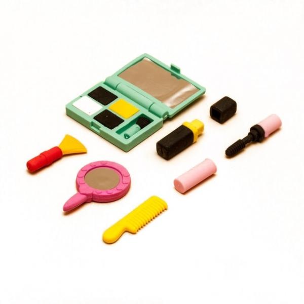 Набор ластиков «Косметика», ластики в виде косметики, канцтовары для детей