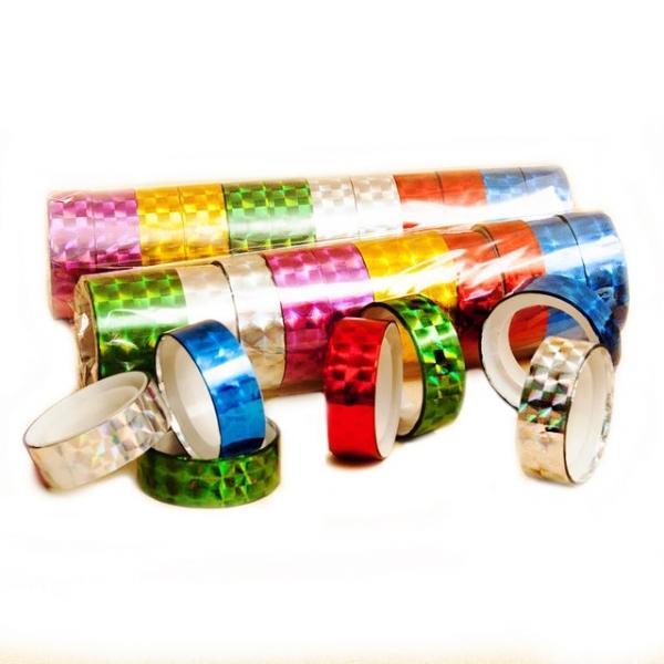 Декоративный скотч «Гологрфический», набор скотча для декора голограмма