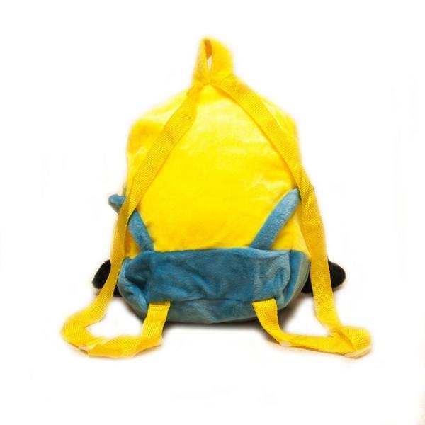 Яркий, удобный детский рюкзак миньон из велюра