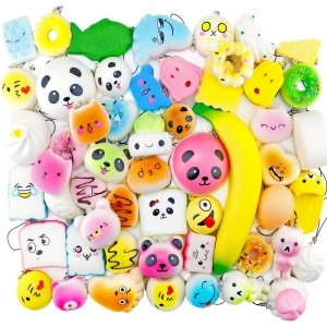 Игрушки Сквиши Squishy антистресс купить в виде разных зверюшек, еды, напитков и предметов.