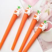 Гелевая ручка морковка с кроликом