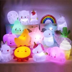Cветильник ночник детский фламинго, дракончик, единорог, звезда, тучка